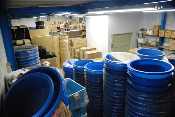 Warehouse of material and accessories for koi breeding for Koi warehouse sale
